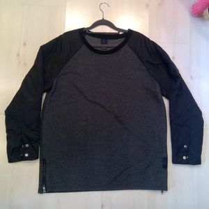 Anthropologie Three Feathers Black Sweatshirt L